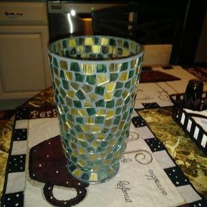 Mosaic candle holder or vase